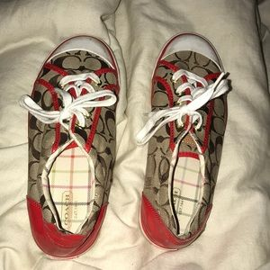 Red and Brown Coach Shoes